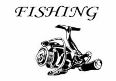 a reel on the white, fishing every day