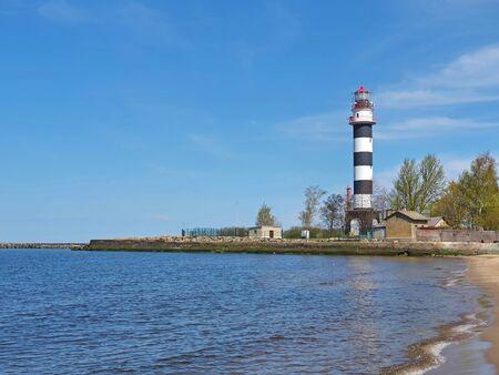 lighthouse on the coast of the baltic sea
