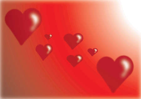 a valentine background with hearts