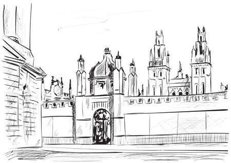 a sketch of the city of oxford