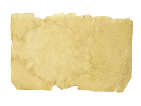 old paper isolated on white background Stock Photo - 6448769