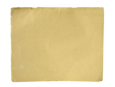 old paper isolated on white background Stock Photo - 6461124