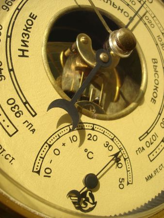 aneroid: thermometer barometer