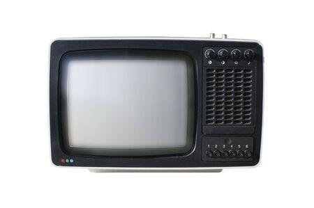 old analog TV set isolated on a white background Stock Photo - 6497725