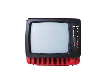 old analog TV set isolated on white background Stock Photo - 6497652