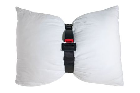 airbag isolated on a white background photo