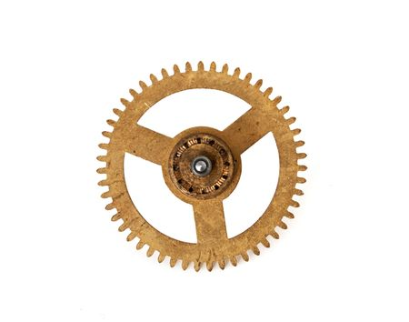 hour gear isolated on white background photo