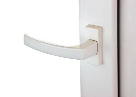 windows frame: window handle isolated on white background Stock Photo