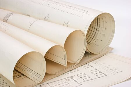 old twisted architectural engineering drawings Stock Photo - 7120195