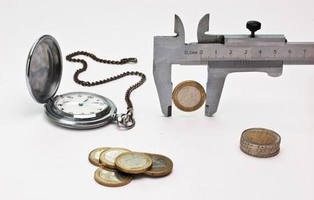 trammel: European coin and trammel Stock Photo