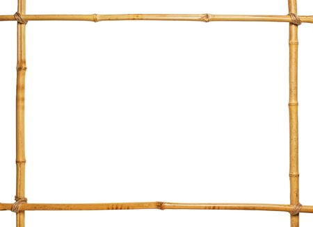 bamboo frame with blank center isolated photo