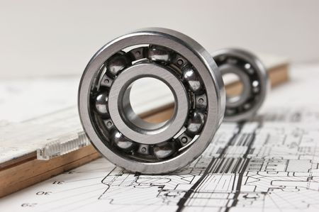 mechanical scheme and  bearing Stock Photo - 7541761