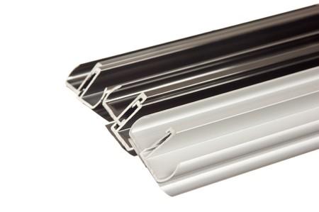 aluminum rod: aluminum profile isolated on white background Stock Photo