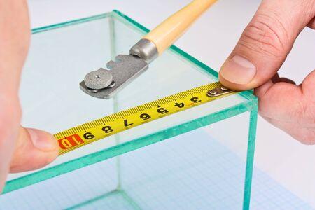 glazier glass measuring tape measure