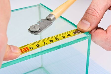 glazier: glazier glass measuring tape measure