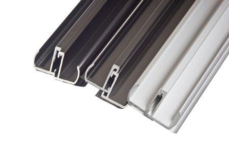aluminum profile isolated on white background photo