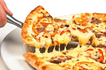 Pizza Slice  isolated on white background