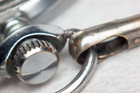 attrition: element of the old pocket watch,macro Stock Photo