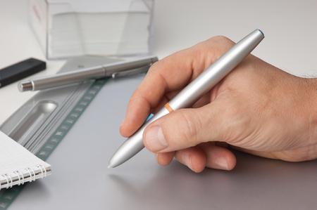 hand draws tablet pc photo