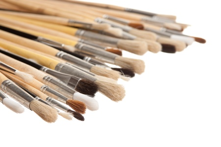 brush drawing isolated on a white background photo