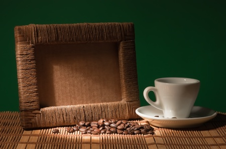 photo frame and a cup of coffee Stock Photo - 9058456