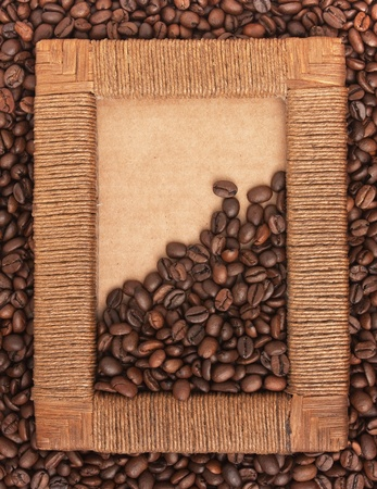 Photo frame of coffee beans photo