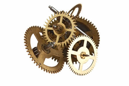 clockwork gears isolated on white background Stock Photo - 9058610
