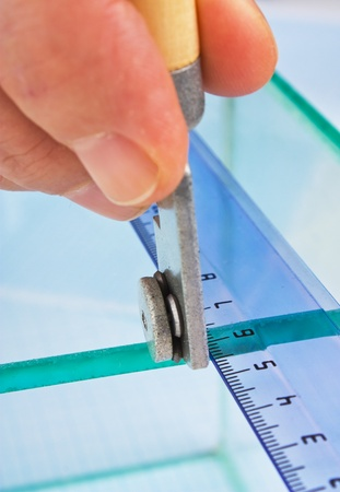 glazier cut glass on the table Stock Photo - 9058631