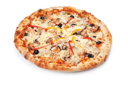 Pizza isolated on white background Stock Photo - 9058662