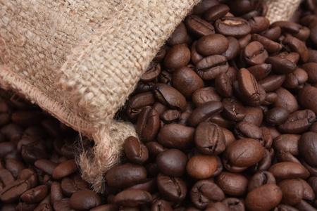 winnower: coffee beans in a bag