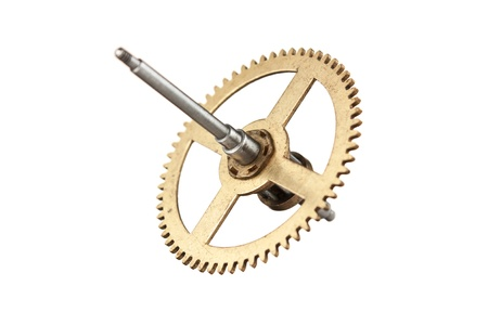 escapement: hour gear isolated on white background Stock Photo