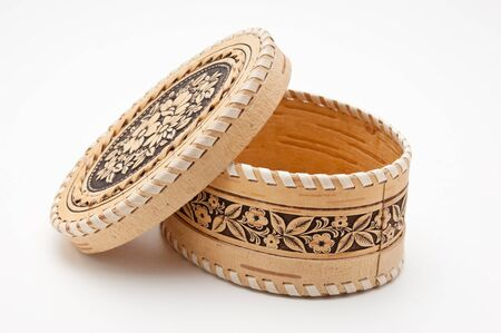 birchbark: birch-bark box
