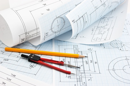dibujo tecnico: dibujo t�cnico trenzado y herramientas