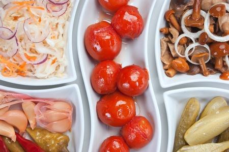 salad of pickled vegetables photo