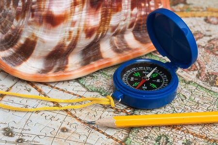 compass on a map photo