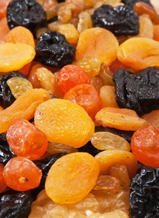 fruit mix: background of dried fruit slices