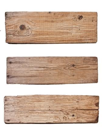 �wood: Antiguo tabl�n de madera aislada sobre fondo blanco