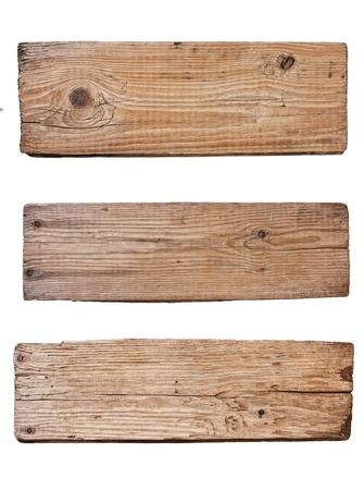 Old plank of wood  isolated on white background Stock Photo - 9829739