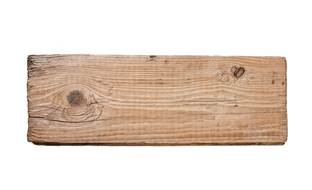 Old plank of wood  isolated on white background Stock Photo - 9830038