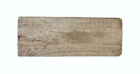 Old plank of wood  isolated on white background  Stock Photo - 9956674