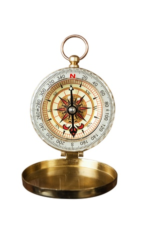 cartographer: compass isolated on white background