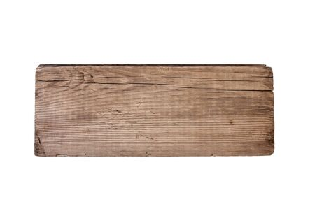 Old plank of wood  isolated on white background  photo