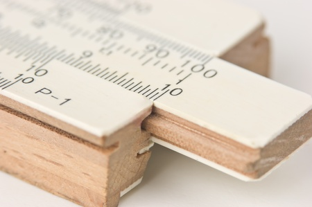logarithmic: Vernier scale old logarithmic ruler