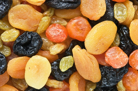 dried fruits: background of dried fruit slices