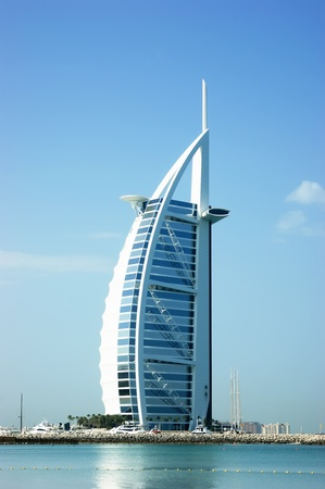 DUBAI, UNITED ARAB EMIRATES - OCTOBER 13: A general view of the world's first seven stars luxury hotel Burj Al Arab 'Tower of the Arabs', also known as 'Arab Sail' on October 13, 2011 in Dubai, UAE