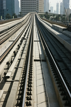 subway tracks in the united arab emirates Stock Photo - 11147603