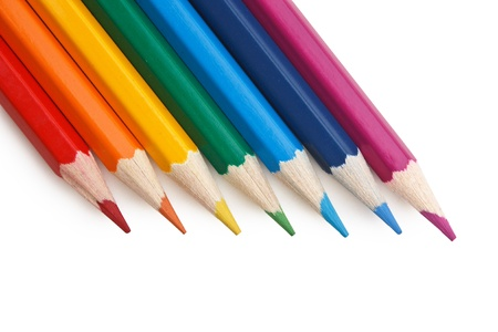 colored pencil: colored pencils isolated on a white  background