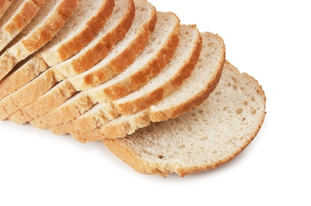 sliced bread isolated on white background Stock Photo - 11840723