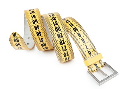 meter belt slimming isolated on a white background Stock Photo - 11950742