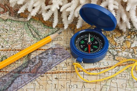 compass on a map Stock Photo - 11950795